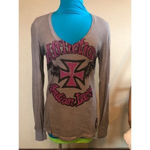 Women's Affliction Thermal/Waffle Long Sleeve